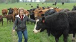 Jeanne White and Cows