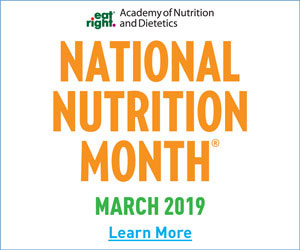 national nutriton month 2019 logo